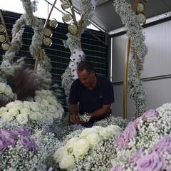 Il carro floreale della Madonna del Rosario