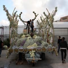 Allestimento carro floreale Madonna del Rosario