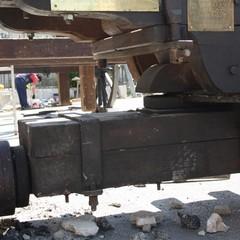 Carro Trionfale in costruzione al Lamione Terlizzi JPG