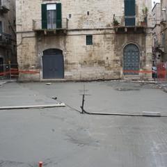 Largo Poerio,lavori in corso.