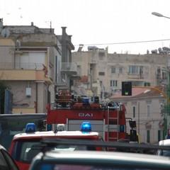 incendio in via Molfetta