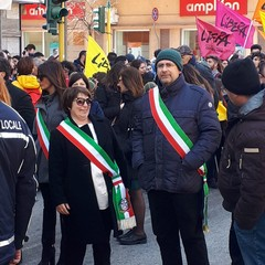Vittoria Allegretti alla manifestazione di Libera a Brindisi
