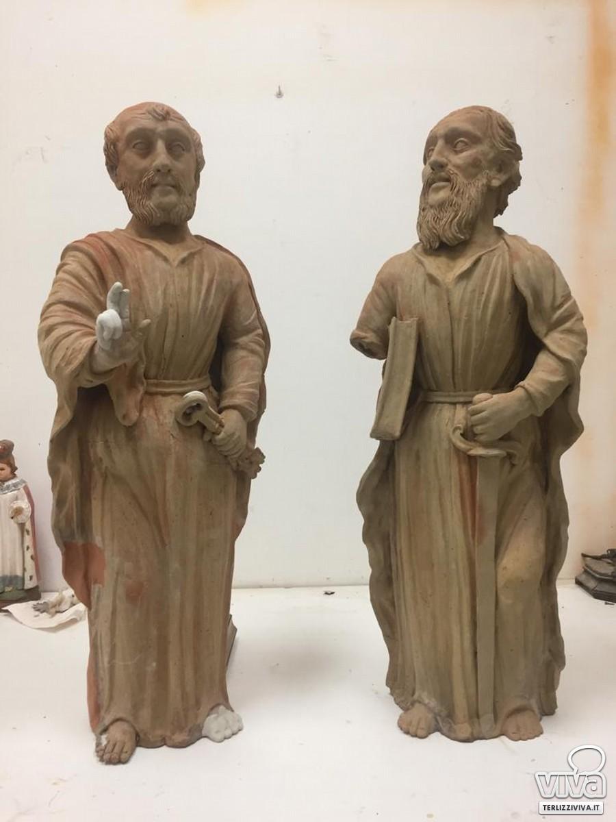 Le statue fittili dei Santi Pietro e Paolo