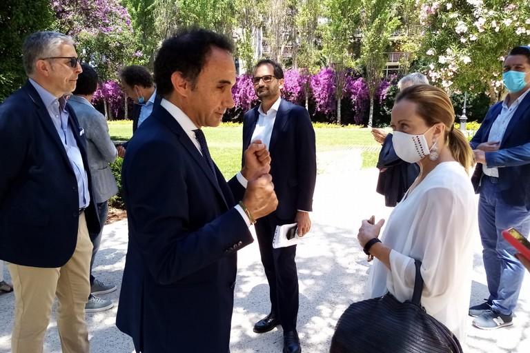 Ninni Gemmato con Giorgia Meloni. <span>Foto Ufficio Stampa Comune di Terlizzi</span>