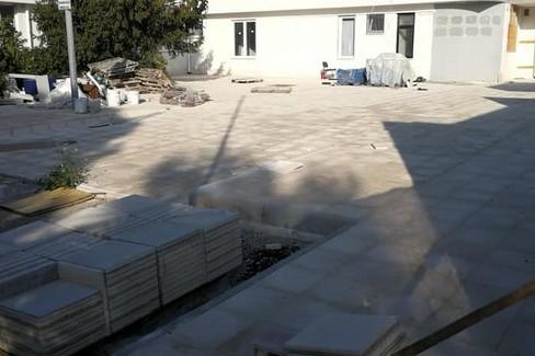 Il cantiere della ex scuola Pacecco. <span>Foto M.G.</span>