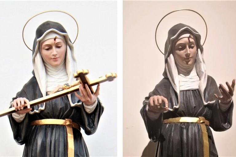 Crocifisso rubato dalle mani di Santa Rita