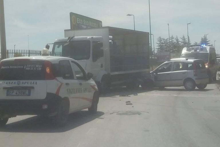 L'incidente stradale avvenuto sulla strada statale 108