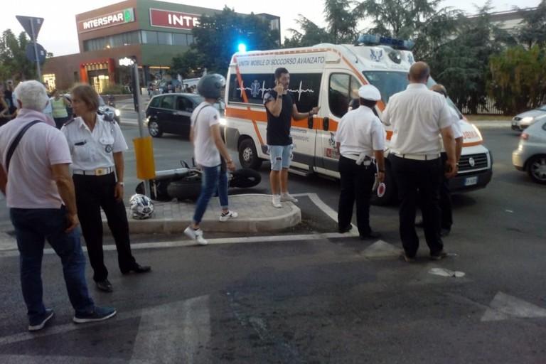 L'incidente stradale avvenuto in via Giovinazzo