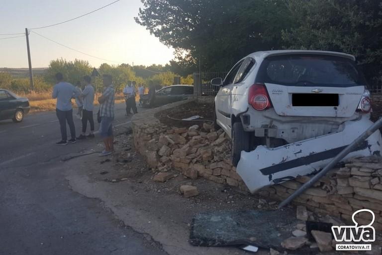 L'incidente stradale avvenuto sulla strada provinciale 234