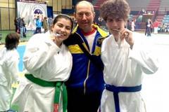 I terlizzesi Luca e Antonella sul podio del karate pugliese