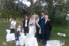 Giorgio e Angela, i primi a sposarsi nel parco comunale