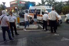 Incidente auto-moto in via Giovinazzo, centauro a terra