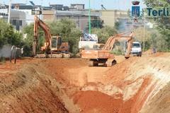 Prevenzione rischio idraulico: scavato un canalone vicino alla Terlizzi-Mariotto
