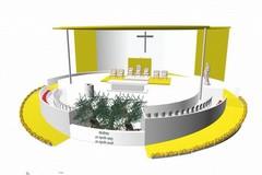 Il Papa a Molfetta, ecco come sarà l'altare