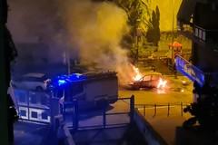 Nella notte distrutta dalle fiamme una Fiat Idea