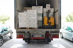 Arrivati a Terlizzi beni di prima necessità da distribuire alle famiglie