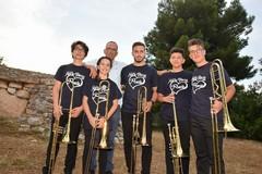 Una band di soli ottoni al  'Festival giovani '900 e dintorni'