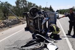 Incidente sulla Terlizzi-Molfetta, auto capovolte: due feriti