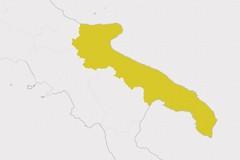 Terlizzi e tutta la Puglia tornano in zona gialla