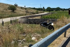 Centauro di Terlizzi fuori strada sulla Corato-Castel del Monte