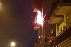 Incendio in un'abitazione in via Eroi del Mare a Terlizzi