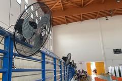 Al PalaChicoli installati i ventilatori. Più di mille somministrazioni effettuate ieri