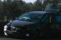 Conducente perde il controllo dell'auto e sbatte sul lato della carreggiata