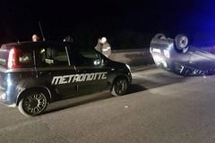 Brutto incidente stradale sulla sp 231, auto si ribalta