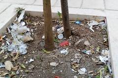 Largo Cirillo, dopo un anno mancano i cestini portarifiuti