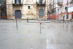 Ripresi i lavori in Largo Poerio