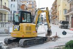 Iniziati i lavori alla fogna bianca in via Sarcone