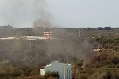 Ancora fuoco e fumo nelle campagne di Terlizzi