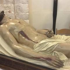 Le foto del Cristo morto tornato nella chiesetta di S. Maria di Costantinopoli