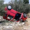 Incidente sulla provinciale per Giovinazzo, un'auto si ribalta. Ferita una donna
