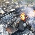 Rogo di rifiuti in via Ruvo: l'allarme di Puliamo Terlizzi