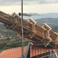 Il carro trionfale di Fontanarosa va giù contro un palazzo