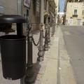 Posizionati venti nuovi cestini portarifiuti nel centro della città
