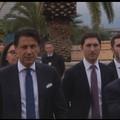 Il premier Giuseppe Conte in visita alla ITEL di Ruvo di Puglia