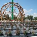 Rotatoria di via Mariotto, ecco la cupola geodetica
