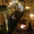 Santa Lucia, acceso il falò in piazza Cavour