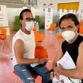 Si vaccinano gli sportivi Mauro Vino e Michelangelo De Chirico