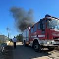 Rifiuti plastici in fiamme nell'agro di Terlizzi: intervengono i Vigili del Fuoco