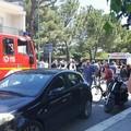Brutto incidente vicino il parco comunale. Le foto