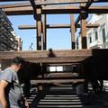 Verso la festa maggiore: ricostruiti i longheroni del carro - FOTO