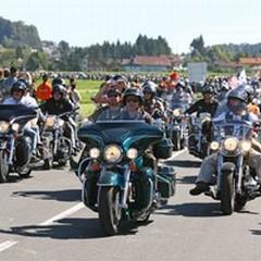 Le Harley Davidson approdano al Campo Sportivo Comunale