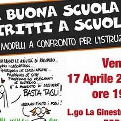 Il movimento Uniti a Sinistra contro la scuola di Renzi