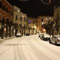 Neve nella notte su Terlizzi