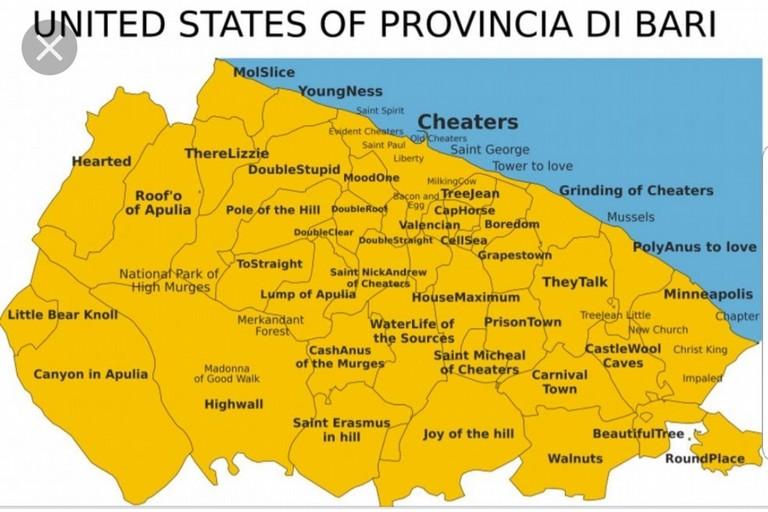 Si scrive therelizzie si legge terlizzi ecco gli stati for Arredamenti bari e provincia
