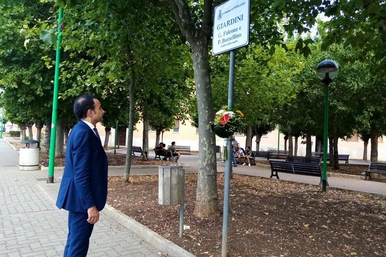 Commemorazione Borsellino Terlizzi Ninni Gemmato. <span>Foto Cosma Cacciapaglia</span>