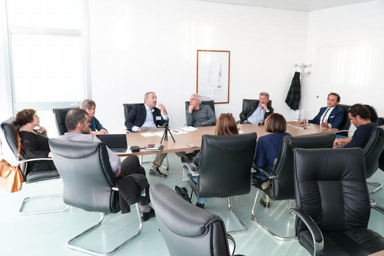 Il tavolo di confronto. <span>Foto Ufficio Stampa Comune di Terlizzi</span>